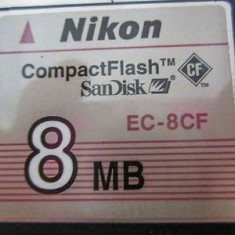 COMPACT FLASH 8MB /compact flash nikon 8 mb NIKON EC-8CF - Card memorie foto