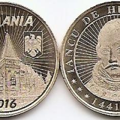 Romania 50 bani 2016 - Iancu de Hunedoara, 23.75 mm, KM-New UNC !!! - Moneda Romania