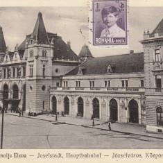 TIMISOARA, IOSEFIN, GARA DOMNITEI ELENA 1929 - Carte Postala Banat dupa 1918, Circulata, Printata