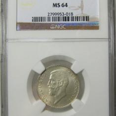 Romania 1 Leu 1910 Hamburg NGC MS 64 Piesa de colectie ! - Moneda Romania