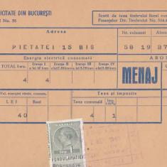 Bnk fil Fondul aviatiei 1 leu pe factura Societatea de gaz Bucuresti