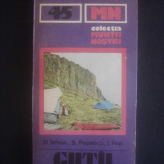 D. ISTVAN - MUNTII GUTAI colectia muntii nostri nr. 45, lipsa harta - Ghid de calatorie