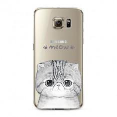 HUSA TRANSPARENTA SILICON SAMSUNG GALAXY S6 + STYLUS PEN CADOU - Husa Telefon Samsung, Samsung Galaxy S6 Edge, Carcasa