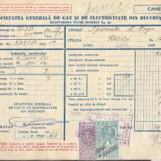 Bnk fil Timbre fiscale pe factura - Iunie 1936