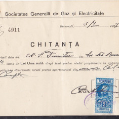 Bnk fil Timbru fiscal 2 lei pe factura 1927