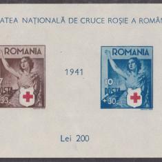 TRNS - CRUCEA ROSIE - COLITA - AN 1941 - Timbre Romania, An: 1950, Nestampilat