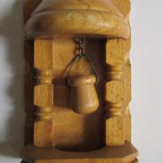 FANTANA-aplica, suport chei-sculptura in lemn