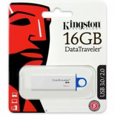 Kingston 16 GB DataTraveler DTIG4, USB 3.0, white-blue USB Flash Drive - Stick USB