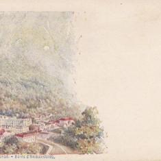 HERCULANE, BAILE HERCULANE, LITOGRAFIE - Carte Postala Banat pana la 1904, Necirculata, Printata