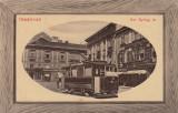 TIMISOARA , PIATA SF. GHEORGHE , TRAMVAI , MAGAZINE, Circulata, Fotografie