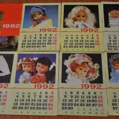 Calendar vechi papusi Aradeanca. Anul 1992. Dimensiune mare. Papusa Aradeanca! - Afis