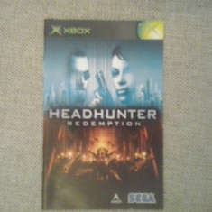 Manual - Headhunter   - XBOX  ( GameLand )