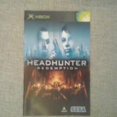 Manual - Headhunter   - XBOX  ( GameLand )