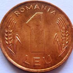 Moneda 1 Leu - ROMANIA, anul 1993 *cod 1117 A.UNC - Moneda Romania