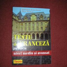 TESTE DE FRANCEZA PENTRU NIVEL MEDIU SI AVANSAT -DARABOS ZSUZSANNA, KISS SANDOR
