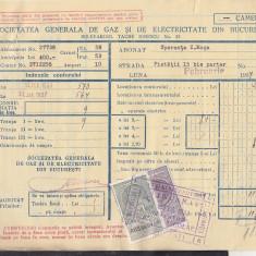 Bnk fil Timbre fiscal pe factura 1937