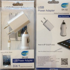 Kit accesorii iPhone 5 & iPad 4 / mini DELUXE compatibil IOS8 Apple