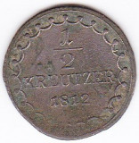 Austria, Ungaria 1/2 KREUZER KREUTZER 1812 S Szomolnok (Slovacia), Europa