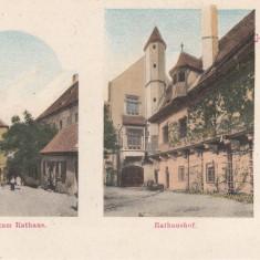 SIBIU, SALUTARI DIN SIBIU, PRIMARIA, EDITURA G. A. SERAPHIN - Carte Postala Transilvania pana la 1904, Necirculata, Printata
