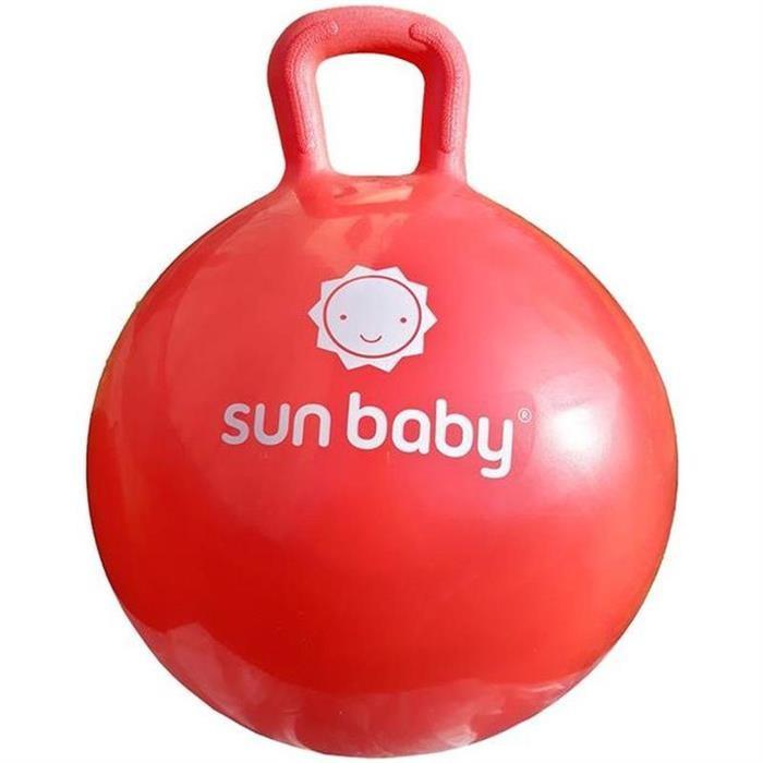 Minge Gonflabila Pentru Sarituri Cu Maner Sun Baby Rosu foto mare