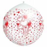 Balon Jumbo cu petale de trandafiri - Decoratiuni nunta
