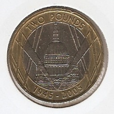 Marea Britanie 2 Pounds 2005 - St. Pauls Cathedral, K70, 28.4 mm, KM1056, Europa