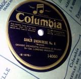 Disc vinil patefon/ gramofon Danza Ungherese No. 6 / I Vesprei Siciliani, Columbia