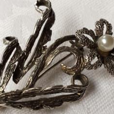 Brosa argint CRIN veche Splendida finuta delicata Vintage de Efect Superba