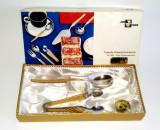 Cumpara ieftin Set lingurita si cleste pentru zahar - placate cu aur - Wirths Bestecke