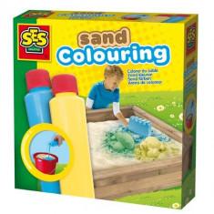 Set Vopsea Pentru Nisip Albastru Galben - Jocuri arta si creatie SeS