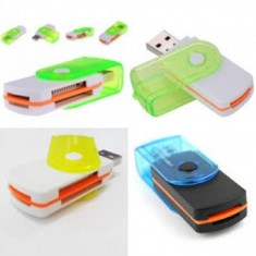 Cititor carduri de memorie 15 in 1 MIX COLOR - Card reader