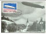 No2)ilustrata maxima-ZEPELINUL L.Z.127 SURVOLAND ORASUL SIBIU-prima zi, Romania de la 1950, Aviatie