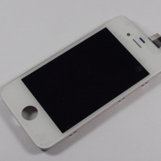 Iphone 4 Display nou complat cu touchscreen geam sticla ALB - Display LCD Apple, iPhone 4/4S