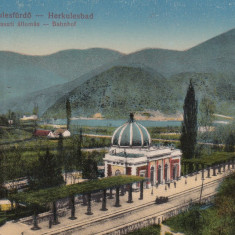 BANAT, HERCULANE, GARA - Carte Postala Banat dupa 1918, Necirculata, Printata, Baile Herculane