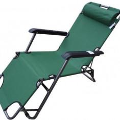 Sezlong/Pat pliabil 3 pozitii ( ideal pentru gradina, plaja, camping si pescuit ) - Mobilier camping