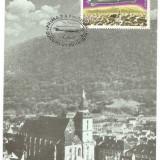 No2)ilustrata maxima-ZEPELINUL L.Z.127 SURVOLAND ORASUL BRASOV-prima zi, Romania de la 1950, An: 1978, Aviatie