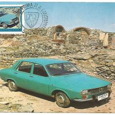 No(2)ilustrata maxima-AUTOVEHICULE ROMANESTI-DACIA 1300- prima zi, Romania de la 1950, An: 1978, Transporturi