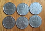 Rusia   Urss 1981 lot monede 20 kopeici, Europa