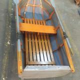 Barca 2 persoane schelet lemn + laterale gonflabile