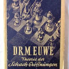 """""""THEORIE DER SCHACH-EROFFNUNGEN"""", Vol. VIII, Dr. M. Euwe, 1954. Sah, Alta editura"""