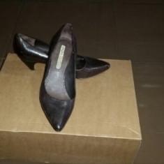 PANTOFI PIELE BUFFALO DAMA - Pantof dama Buffalo, Culoare: Maro, Marime: 38.5, Piele naturala