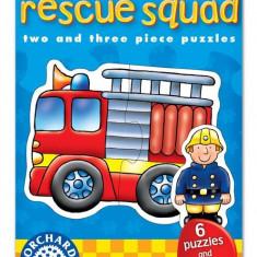 Set 6 Puzzle orchard toys Echipa De Salvare (2 Si 3 Piese) Rescue Squad