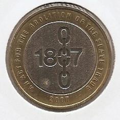Marea Britanie 2 Pounds 2007 - Abolition of the Slave Trade, K70, KM-1075, Europa