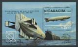 NICARAGUA 1984 ZEPPELIN, EXPO HAMBURG, Nestampilat
