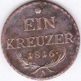 Austria, Ungaria, EIN 1 kreuzer 1816 A Viena XF, Europa