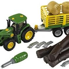 Tractor John Deere Cu Remorca Pentru Lemne - Vehicul Klein