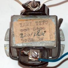 Transformator 220 V - 12 V, 3 W