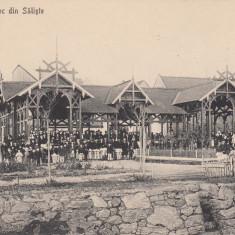 SIBIU, SALISTE, PAVILIONUL DE JOC DIN SALISTE - Carte Postala Transilvania 1904-1918, Necirculata, Printata