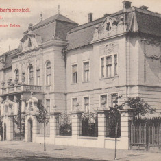 SIBIU, PALATUL COMANDAMENTULUI, MILITARA, CIRCULATA JUN.''910 - Carte Postala Transilvania 1904-1918, Printata