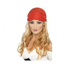 Peruca Printesa Pirat blonda, cu bandana - Carnaval24